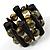 2 Strand Chunky Bead Bracelet (Olive & Brown)