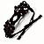 Wood Suede Cord Beaded Bracelet (Black & Brown) - view 3