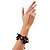 Wood Suede Cord Beaded Bracelet (Black & Brown) - view 5