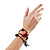3 Strand Flex Beaded Bracelet (Black & Red) - view 6