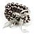 3 Strand Gray-Coloured Beaded Flex Bracelet - view 2