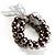 3 Strand Gray-Coloured Beaded Flex Bracelet - view 6