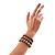 3 Strand Gray-Coloured Beaded Flex Bracelet - view 7