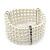 5-Strand Imitation Pearl Crystal Flex Bracelet (Snow White) - view 8