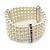 5-Strand Imitation Pearl Crystal Flex Bracelet (Snow White) - view 9