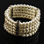 5-Strand Imitation Pearl Crystal Flex Bracelet (Snow White) - view 4