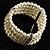5-Strand Imitation Pearl Crystal Flex Bracelet (Snow White) - view 5