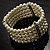 5-Strand Imitation Pearl Crystal Flex Bracelet (Snow White) - view 6