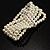 5-Strand Imitation Pearl Crystal Flex Bracelet (Snow White) - view 7