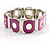 Oval Link Pink Flex Enamel Bracelet