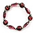 Purple Coloured Flex Glass Bead Bracelet - view 3