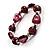 Purple Coloured Flex Glass Bead Bracelet - view 4
