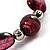 Purple Coloured Flex Glass Bead Bracelet - view 5