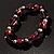 Purple Coloured Flex Glass Bead Bracelet - view 6