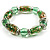 Green Glass Bead Flex Bracelet - view 3