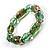 Green Glass Bead Flex Bracelet - view 8