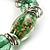 Green Glass Bead Flex Bracelet - view 4
