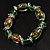 Green Glass Bead Flex Bracelet - view 5