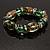 Green Glass Bead Flex Bracelet - view 2