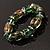 Green Glass Bead Flex Bracelet - view 6