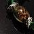 Green Glass Bead Flex Bracelet - view 7