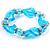 Sky Blue Twisted Flex Glass Bracelet