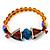 Citrine Bead Glass Stretch Bracelet