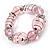 Bold Pink Glass Flex Bracelet - view 3