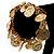 Gold Tone Coin Link Flex Bracelet - view 4