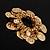 Gold Tone Coin Link Flex Bracelet - view 5