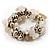 White&Beige Nugget Flex Bracelet - view 2