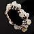White&Beige Nugget Flex Bracelet - view 6