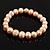 Light Cream Freshwater Pearl Flex Bracelet (9mm) - view 3
