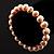 Light Cream Freshwater Pearl Flex Bracelet (9mm) - view 4