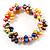 Multicoloured Cultured Freshwater Pearl Flex Bracelet