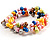 Multicoloured Cultured Freshwater Pearl Flex Bracelet - view 3