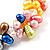 Multicoloured Cultured Freshwater Pearl Flex Bracelet - view 4