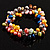 Multicoloured Cultured Freshwater Pearl Flex Bracelet - view 7