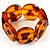 Animal Print Round Resin Flex Bracelet