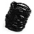 Black Glass Herring Wide Bracelet - view 6
