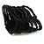 Black Glass Herring Wide Bracelet - view 3