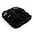 Black Glass Herring Wide Bracelet - view 5