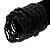 Black Glass Herring Wide Bracelet - view 2