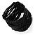 Black Glass Herring Wide Bracelet - view 8