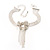Delicate Crystal Bow Bracelet (Silver Tone) - view 2