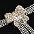 Delicate Crystal Bow Bracelet (Silver Tone) - view 4