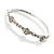 Exquisite Crystal Floral Bangle Bracelet - view 4