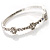 Exquisite Crystal Floral Bangle Bracelet - view 2
