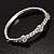 Exquisite Crystal Floral Bangle Bracelet - view 7