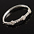 Exquisite Crystal Floral Bangle Bracelet - view 5
